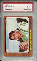 1966 Topps Football #96 Joe Namath Card Graded PSA Ex MINT 6 New York Jets '66