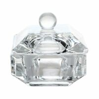 1X( 1 pcs New For Liquid Powder Tool Crystal Dappen Dish Nail Art Acrylic P3Z3)