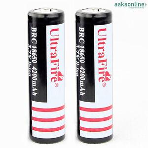 2x Lithium li-ion Accu ⭐ Batterien ⭐18650 Akku ⭐ Taschenlampe ⭐ 3,7V ⭐ PREMIUM ⭐
