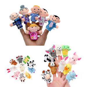16 stücke Fingerpuppen Lustige Weiche Plüsch Finger Spielzeug Nette Spielwaren