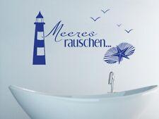 Tatuaggio Muro Bagno Mare rumore Piastrelle Tattoo Maritime decorazione faro adesivi