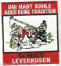 "Anti Leverkusen Aufnäher ""Ihr habt Kohle"" Kutte Weste Fan Patch Block + neu +"