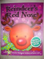 Reindeer's Red Nose Christmas Sticker Activity Book Brand New RRP £4.99