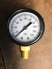 Propane 0-200 Regulator Pressure Gauge, Metal, Pig Cooker, Forge, Smoker