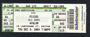 Original 2004 Pixies unused full concert ticket Boston Avalon