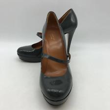 Gucci Grey Patent Heel 10
