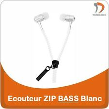 Ecouteur ZIP Earphone Oortelefoon iPhone iPod Mobile Phone MP3 MP4 White BASS