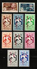 AFRIQUE EQUATORIALE FRANCAISE. A.E.F. N° 181/190 LIBERATION Neufs*. Cote 144 €