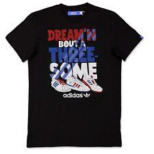 Adidas Originals Trefoil hombre 3 algunos camiseta Superstar Trío negro S