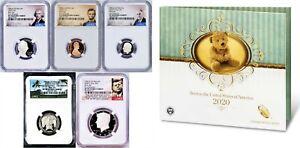 2020 US Mint BIRTH SET 5-Coin-Set Dime Half Penny Nickel Quarter NGC PF70 UC FR