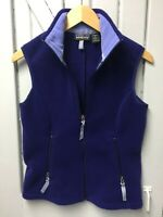 PATAGONIA Synchilla Women's Small Vest Blues with Zipper Pockets, Soft & Cute!