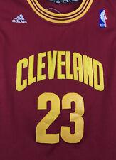 ADIDAS LeBron James #23 Cleveland Cavs NBA Stitched Jersey Wine Gold Youth Sz L