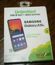 GSM UNLOCKED CRICKET WIRELESS SAMSUNG GALAXY A10E, ATT,T-MOBILE, CRICKET,VERIZON