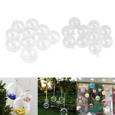 20x Clear Plastic Ball Fillable Ornaments Party DIY Crafts Sphere 4cm 5cm