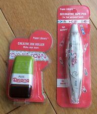 Plus Japan 1 x Deco Mini Roller Stamp & 1 x Deco Tape Pen - Presents, Christmas