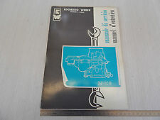 MANUALE ORIGINALE WEBER 1966 CARBURATORE 32 ICB ESEMPIO SIMCA ETC