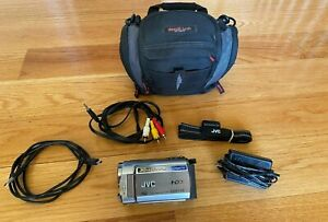 JVC EVERIO GZ-MG330HU CAMCORDER Silver 30GB 35x Bag Pwr Cord Remote EXCELLENT