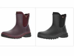 BOGS 'Sauvie' Womens Ankle Wellies Wellington Boots Available Black/Wine(Purple)