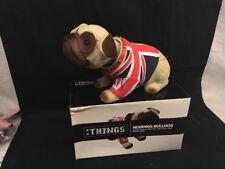 2 British Nodding Bulldog British Bulldog Union Jack Waistcoat Souvenir Gift