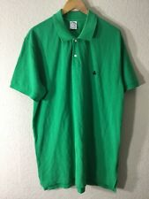 Brooks Brothers Men's 346 Slim Fit Green Short Sleeve Polo Shirt Size 2XL