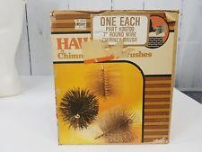 """Vintage Chimney Brush 9"""" X 7"""" Hawkins Original Box #30700 Round Wire"""