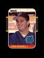 1987 Donruss Baseball #32 Greg Swindell RC Rookie (Indians) NM-MT #A