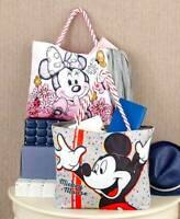 DISNEY MICKEY MINNIE MOUSE TINKER BELL LARGE CANVAS PURSE OVERNIGHT TOTE BAG