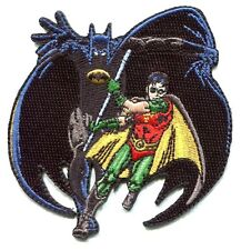 BATMAN cape with robin EMBROIDERED IRON-ON PATCH dc comics **FREE SHIP** c pdc55