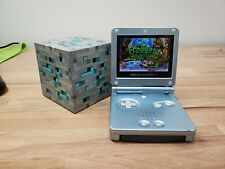 Nintendo Game Boy Advance SP Pearl Blue GBA SP AGS-101 AS IS