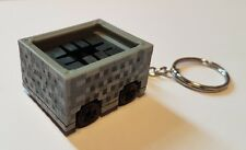 Hot wheels minecraft cart keyring diecast car