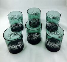 Christmas Holiday Design Decorated Drinking Glass Set Of 6