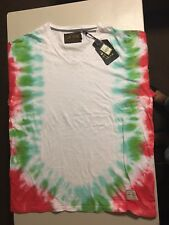 Men's 4XL AKOO BRAND MULTI COLOR S/S sleeve Tshirt TIE DYE w/ graphics HIPPIE