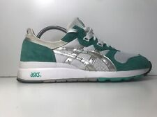 ASICS GEL EPIRUS MINT GREEN SILVER SUEDE TRAINERS SIZE 9 UK