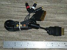 MICROSOFT XBOX ORIGINAL RGB SCART S-VIDEO CABLE + AV CONNECTOR PORT LEAD ADAPTER