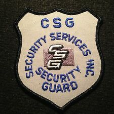 CSG Security Services Officer Patch / Private Guard