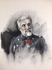 Vice Amiral Boué de Lapeyrère 1920 Marine Fouqueray Lithographie ancienne signée