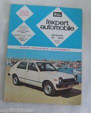 Revue technique EXPERT AUTOMOBILE 163 1980 Toyota starlet (tous types -)