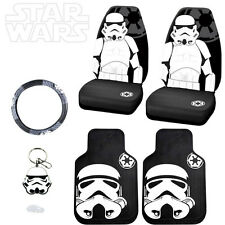 STAR WARS STROMTROOPER 6PC CAR SEAT COVERS MATS AND ACCESORIES SET FOR NISSAN