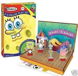 SpongeBob SquarePants 3D Deluxe Kid Play Set Paper Doll Play Scene With Pop-Up