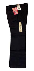 Dickies School Wear Uniform Pants Boys FLEX WAIST NEW 2008 Sz.14 Black Fast Ship