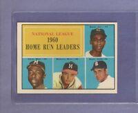 1961 Topps NL HR Leaders Hank Aaron Ernie Banks Mathews #43 NM+