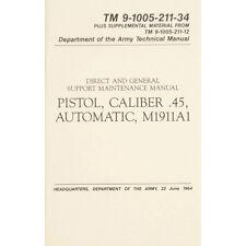 "U.S. Army Technical Manual ""PISTOL CALIBER .45 AUTO M1911A1"" TM 9-1005-211-34"