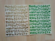 Sticky Back Letters 15mm Rounded alphabet Green & Gold as picture ideal labels