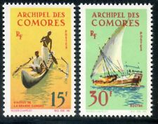 TIMBRE COLONIES FRANCAISES / COMORES N° 33/34 ** EMBARCATIONS