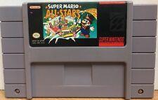Super Mario All Stars Super Nintendo SNES Game Cartridge Classic Cleaned Saves