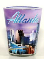 ATLANTA GEORGIA LAVENDER SKYLINE SHOT GLASS SHOTGLASS