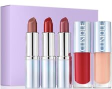 CLINIQUE 5 PC SET PLENTY OF POP SET LIPSTICK LIP GLOSS HYDRATION SPLASH