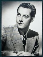 French Actor / Singer Georges Guétary orig vintage signed photograph