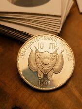 MONETA COIN Münze 💹 10 Francs Niger Proof 1968 💹 SPH #4770