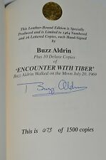 BUZZ ALDRIN AUTOGRAPH ENCOUNTER WITH TIBER  SIGNED BOOK COA SPACE NASA MOON 673